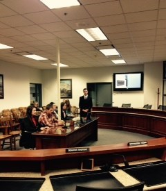 FFA members addressing the Joint Ag Committee in the recent Budget Session