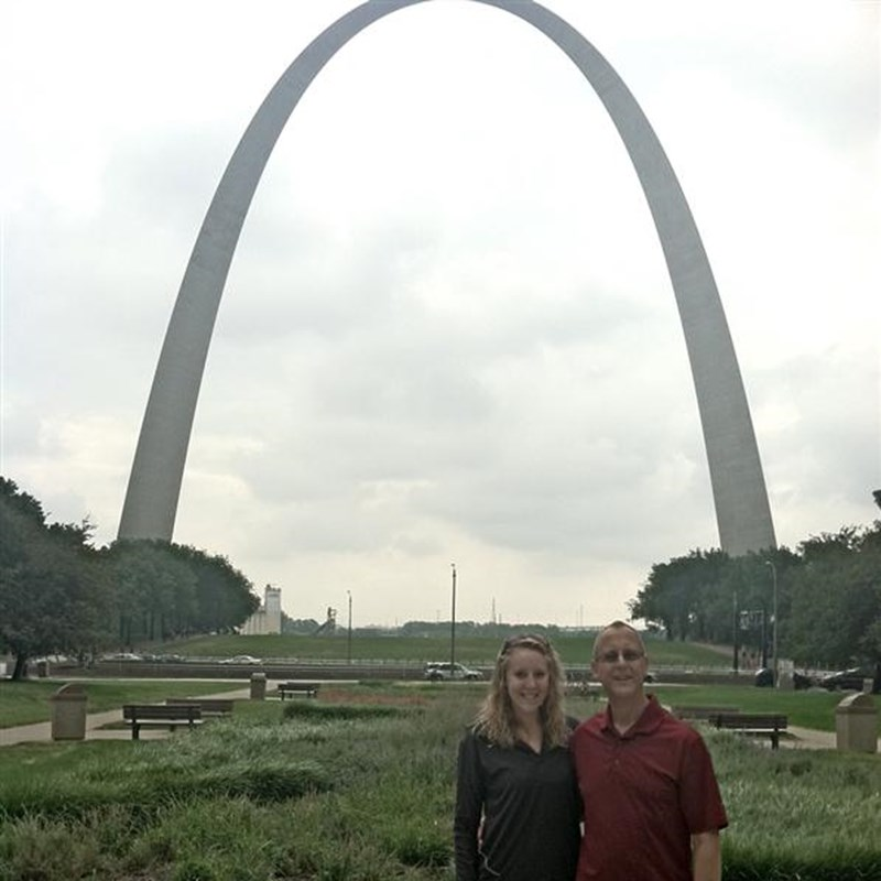 Tom with his daughter Julie in St. Louis, September 10, 2011. Julie will be spending the year in the St. Louis school system as part of her service in the AmeriCorps program.