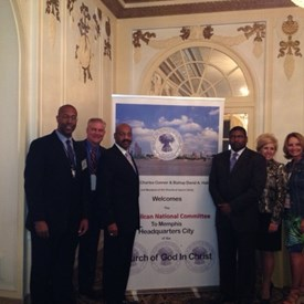 Bishops Conner and Hall with Chad Connely (faith outreach director for RNC) and RNC committee members.