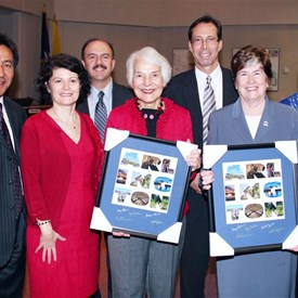 Jay and the County Board Honoring State Senators Mary Margaret Whipple and Patsy Ticer