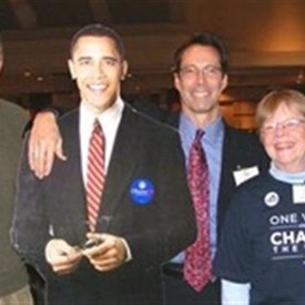 Jay with Fellow '08 Arlington Democratic Joint Campaign Co-Chairs (and special guest)