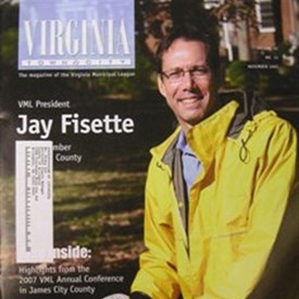 Jay on the Cover of Virginia Municipal League Magazine