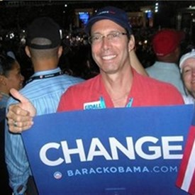 Jay Campaigning for Obama