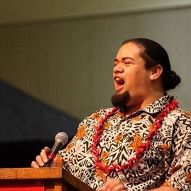 Talofa...Teacher and Leader Mane from Federal Way HS-Pacific Islander Club representing Samoa