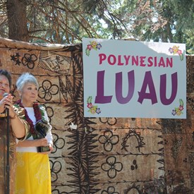 APCC Luau - The Dynamic Duo, Lua and APCC President and Founder Ms. Patsy Surh O'Connell.