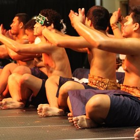 Samoa's traditional Sasa dance performed beautifully by the FW Eagles Pacific Islander Club