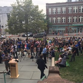 Cambridge gets together for justice and against hate.