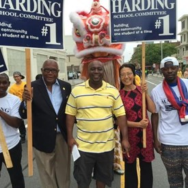 With supporters and the people's mayor Ken Reeves.