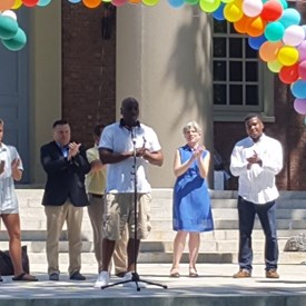 Addressing the crowd at the annual Harvard Senior picnic - our seniors are a resource we must do better to include, serve and honor.