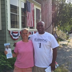 Knocking doors in North Cambridge, feeling the support.