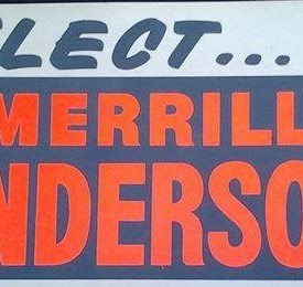 50 Year Old Lawn Sign revived as InternetPoster, Merrill Anderson for Governor Campaign - Minnesota Primary to be held August 12th, 2014