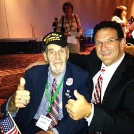 Bob Kulp with WWII Veteran in DC.