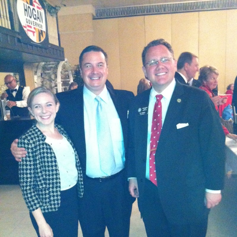 With House Minority Leader Delegate Nic Kipke and his wife