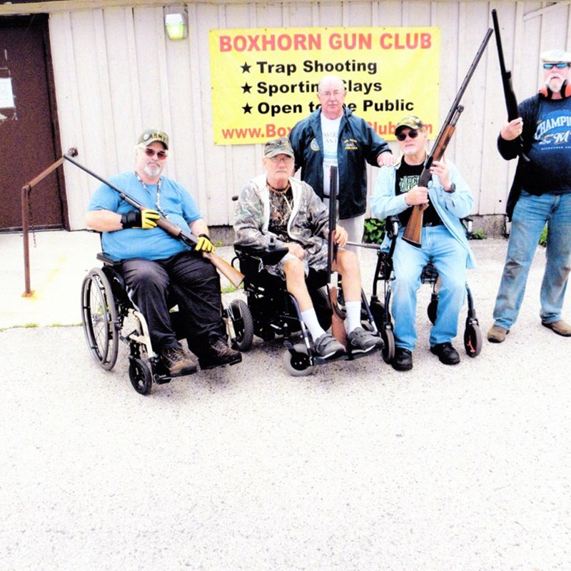 With the assistance of the Veterans Administration Hospital Spinal Cord Injury Department and the Paralyzed Veterans of America Wisconsin Chapter, Veterans Afield gives injured veterans an opportunity to participate in activities, such as trap shooting at Boxhorn Gun Club in Muskego and Wild Wings Sportman's Club in Campbellsport.