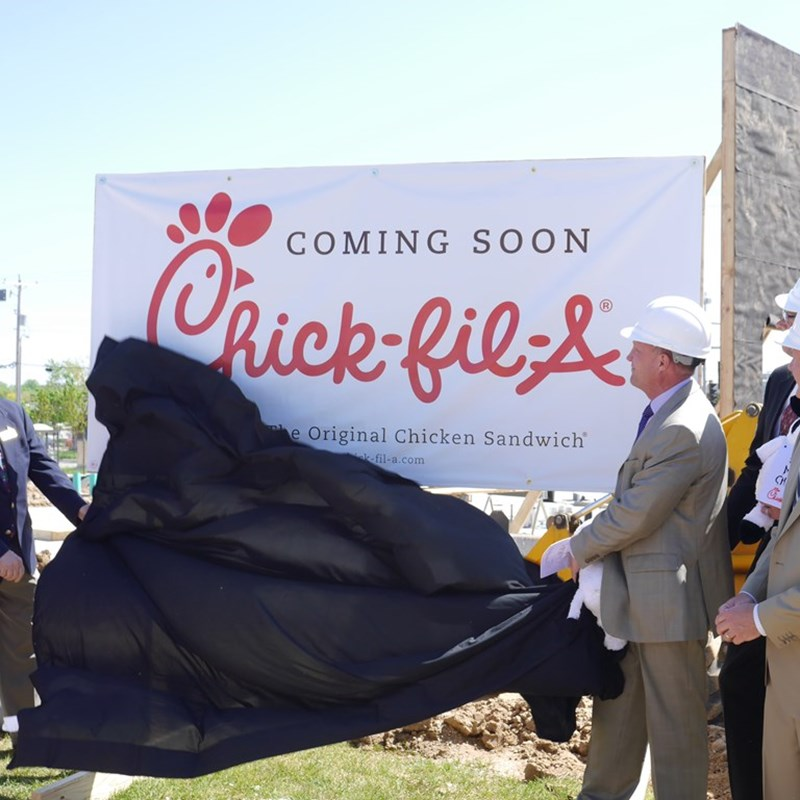 Chick-Fil-A Groundbreaking in Greendale, May 2014