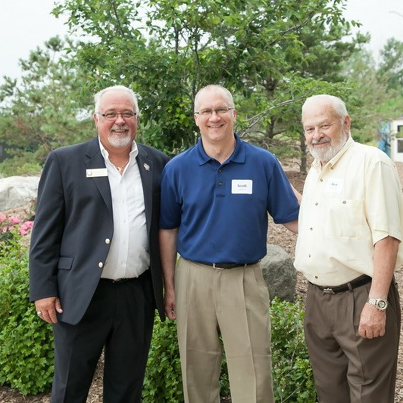 Rep. Tom Weatherston (Assembly District 62) and Candidate Scott Espeseth (Assembly District 7) with Rep Skowronski.