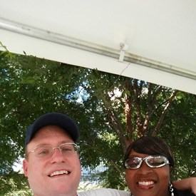 A great couple on vacation from Louisiana made them honorary campaign volunteers fro the day — at 2nd Annual Summer SausageFest.