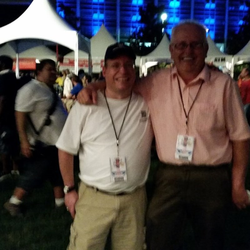Lucky enough to pose with one of the busiest men in the Texas Libertarian party Robert Harris this man attends more events in one week than most candidates attend in the entire season. God bless him and give him the strength to inspire all of us with the truth and his passion. — at 2nd Annual Summer SausageFest.
