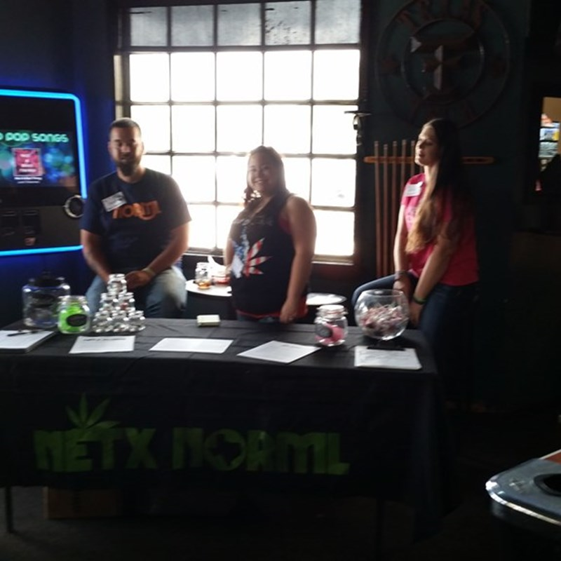 Here with members of Northeast Texas NORML