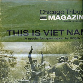 The Chicago Tribune sent Ridgley Hunt to write a story on my Vietnam unit, B Company 227th Assault Helicopter Battalion.  This is the cover for the magazine.