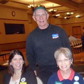 At the January 18, 2014, Dem Neighborhood Convention in Sun City.  With Shannon Horner and Lynn Mann