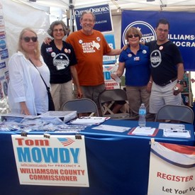 The Dem booth at the Granger Lake Fest.