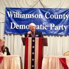 Tom Mowdy speaking at the Williamson Count 2014 Democratic Convention.