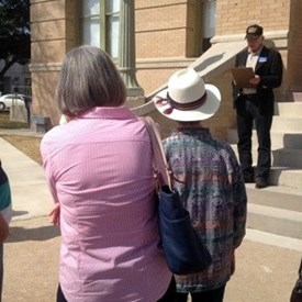 Speaking at the March 28, 2014 gathering at the Williamson County Commissioners Court House.