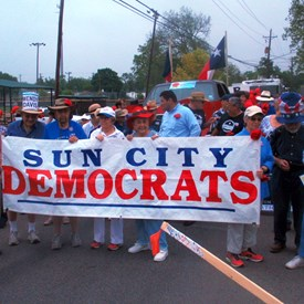 The Sun City Democrats turned out with fantastic support for the parade.