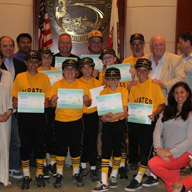 Honoring Santa Monica Little League at our Recreation & Parks Commission meeting.