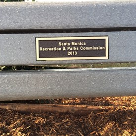 Our Recreation & Parks Commission has a small educational fund in our budget each year. This past fiscal year our Commission voted to use the excess funds to buy two park benches for the Airport Park Dog area. They have been greatly appreciated!