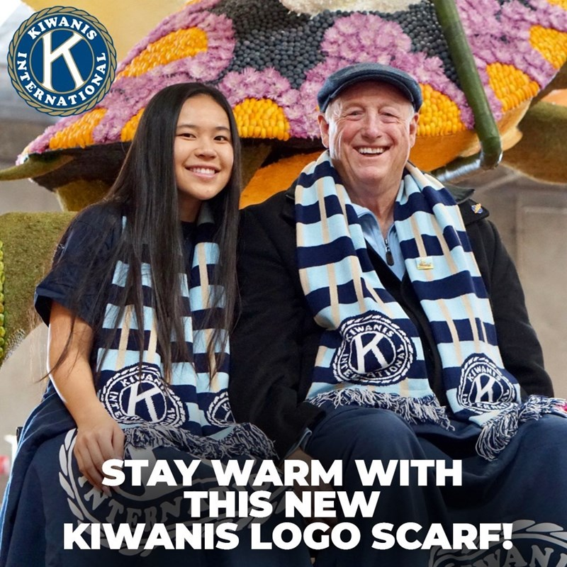 I had the honor to ride on the Kiwanis International float in the 2020 Rose Parade and was featured in the Kiwanis store, selling scarves!