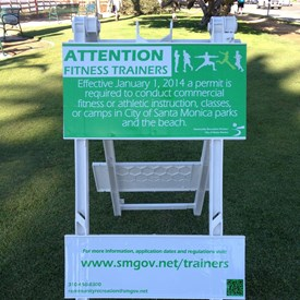 Several years ago I noticed more and more personal fitness trainers taking up a business presence in our public parks. I brought this to our Recreation & Parks Commission's attention and over a long, often turbulent two years a fitness ordinance was enacted. It's not what some wanted however the level of abuse to the people's parks has diminished. Compromise is a difficult road but our city is better for the issue having been raised.