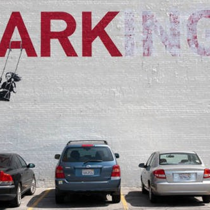 A great piece of art by Banksy. Yes, our priorities over time need to be Parks, not Parking.