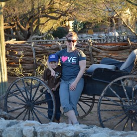 My best friend and wife, Jill, with our son, Kaleb at the Tanque Verde Ranch in Tucson, AZ.