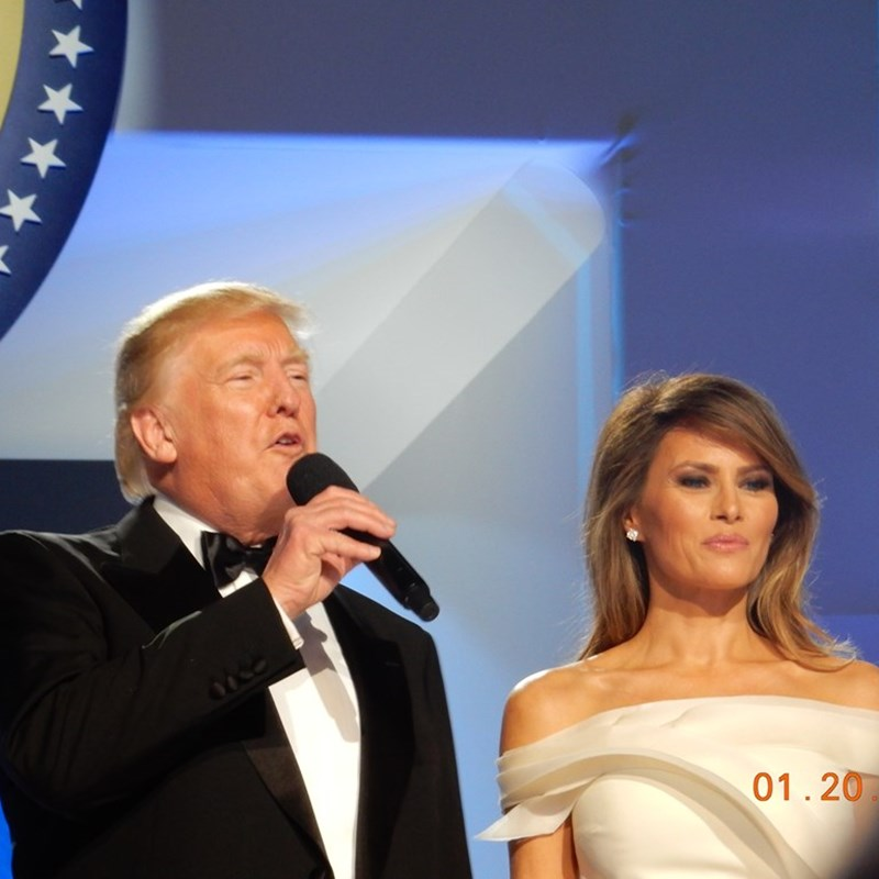 Donald J. Trump and his wife Melania