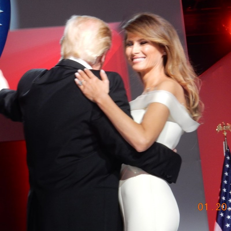 The President and his first Lady on the first dance at the Ball