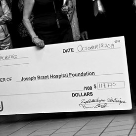 Check out the initial amount raised for this evening.  $117,000.00!!