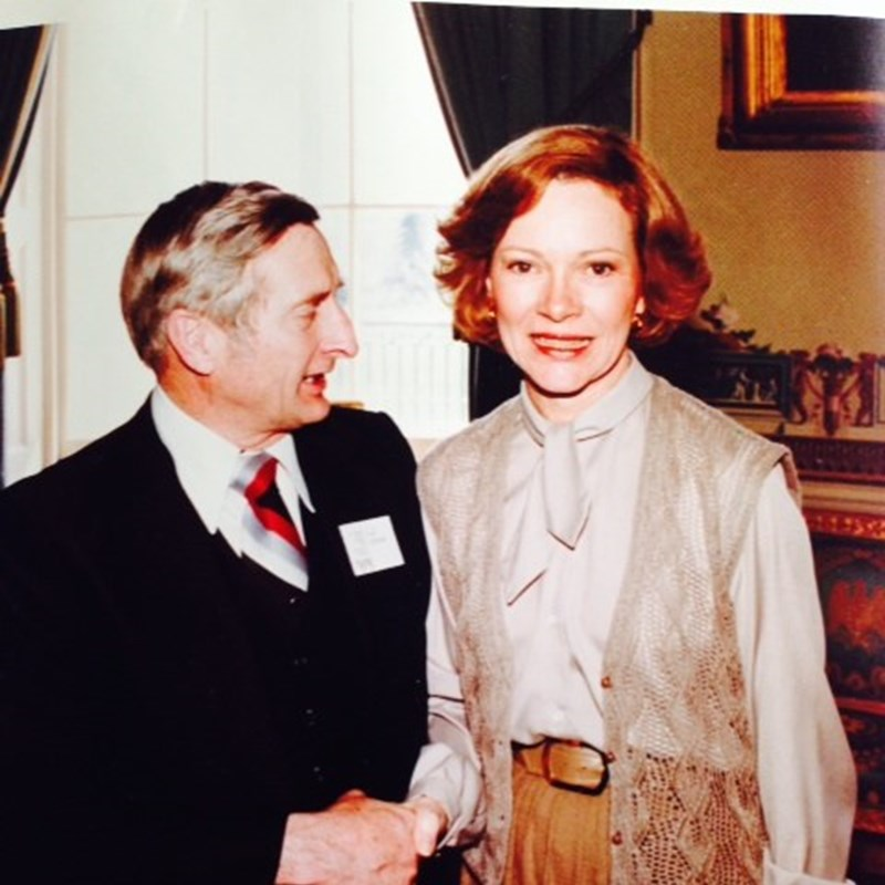 My Grandfather with Rosalynn Carter