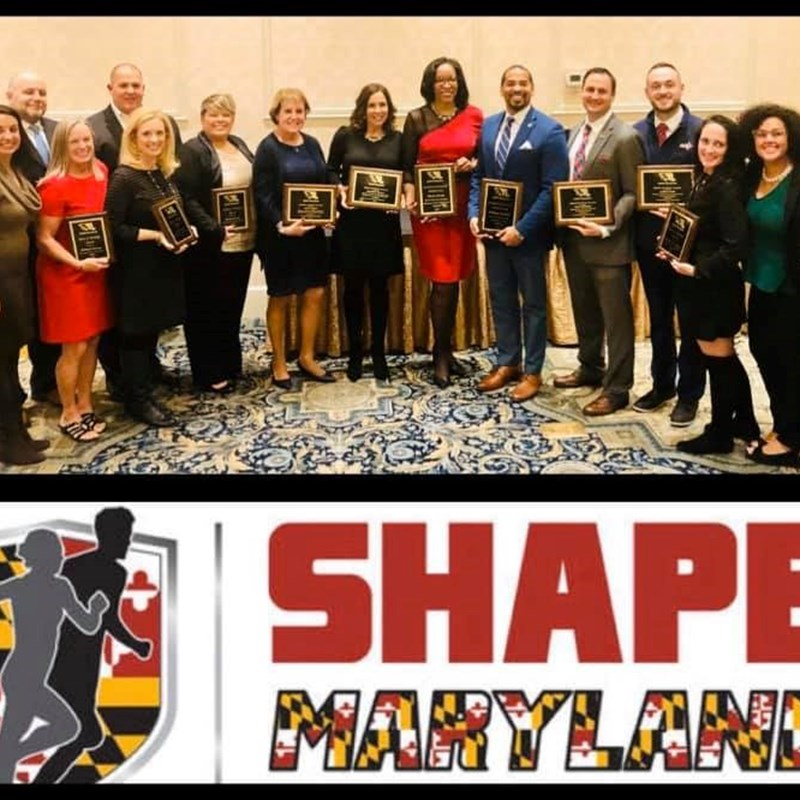 Recipient for the SHAPE Maryland Distinguished Advocate for Healthful Living award in 2019 from the Society of Health and Physical Educators.