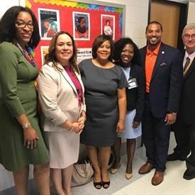Thrilled to welcome MCPS students back to school for the 2019-2020 school year (Shady Grove MS).