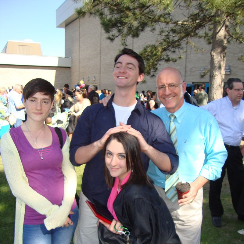 Michelle, Mary, and Robert, Jr. at Mary's graduation.