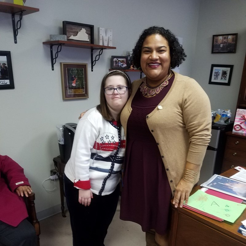 Mary came to visit me to fight for more resources for the disabilities community