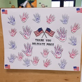 The cutest thank you sign from students at NASA Langley's Child Development Center for when I came to visit for Week of the Young Child