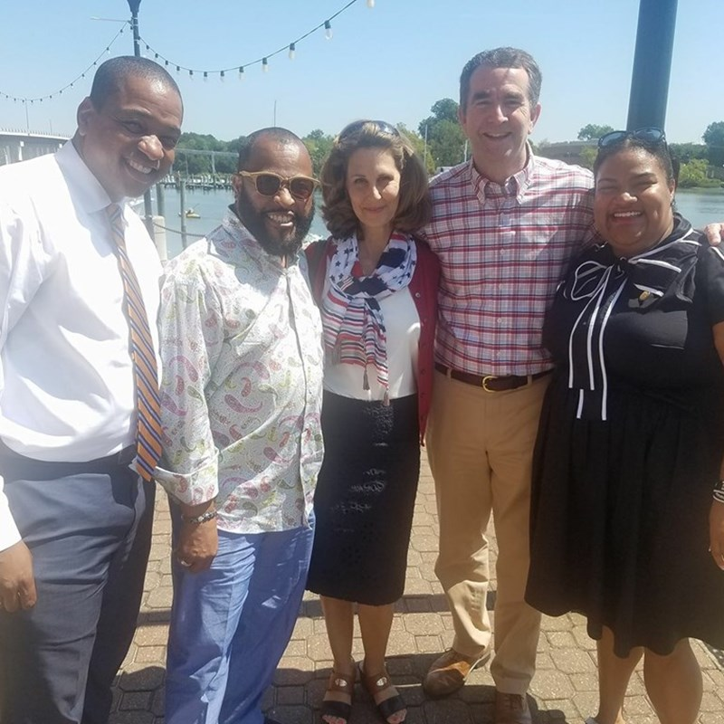Labor Day with Lt. Governor Ralph Northam, Justin Fairfax, Mrs. Pam Northam, and Tommy Bennett in Hampton