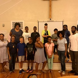 Some of the students from the 2017 SPARK Extension YOLO Camp I cohosted with Ivy Baptist Church, sponsored by the Newport News Public School System