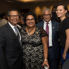 Networking at the African American Mayors Association reception during the 2017 Congressional Black Caucus Foundation Annual Legislative Conference