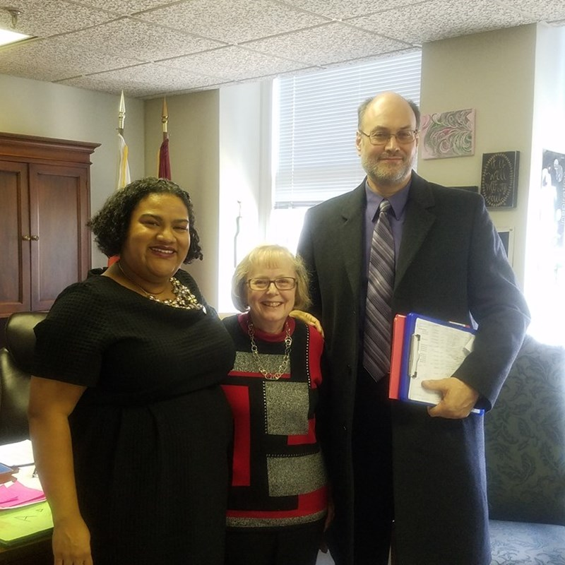 Advocates for the disabilities community came to visit me during session