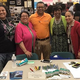 All smiles at the Community Empowerment Fair, hosted by Lambda Omega Chapter of Alpha Kappa Alpha Sorority, Inc.