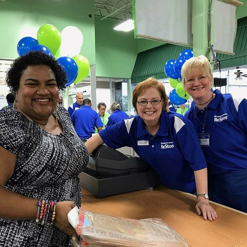 Celebrating and supporting the ribbon cutting and opening of the new Newport News Restore for Habitat for Humanity